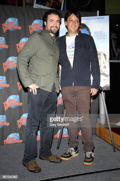 Actor Kevin Corrigan and director Robert Siegel visit Planet Hollywood Times Square on August 26 2009 in New York City