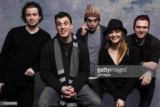 Actor Kevin Corrigan Director Daniel Schechter Actors Vincent Piazza Christine Evangelista and Josh Ruben at the Sky360 by Delta Lounge WireImage...