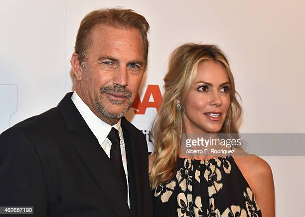 Actor Kevin Costner and Christine Baumgartner arrive to AARP The Magazine's 14th Annual Movies For Grownups Awards Gala at the Beverly Wilshire Four...