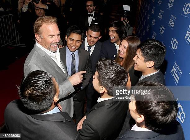 Actor Kevin Costner and director Niki Caro and cast attend The Santa Barbara Film Festival Closing Night Screening of McFarland USA at The Arlington...