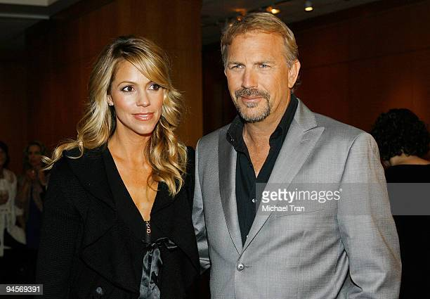 Actor Kevin Costner and his wife Christine Baumgartner attend the 20th Anniversary Screening of Field Of Dreams held at the Academy of Motion Picture...