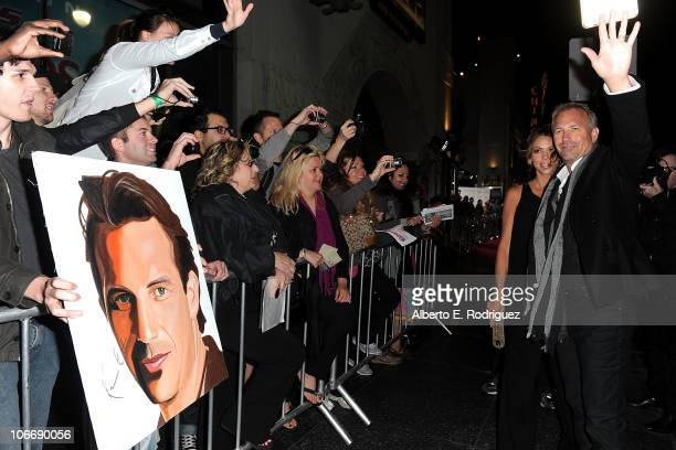 """Actor Kevin Costner and wife Christine Baumgartner arrive at """"The Company Men"""" screening during AFI FEST 2010 presented by Audi held at Grauman's..."""