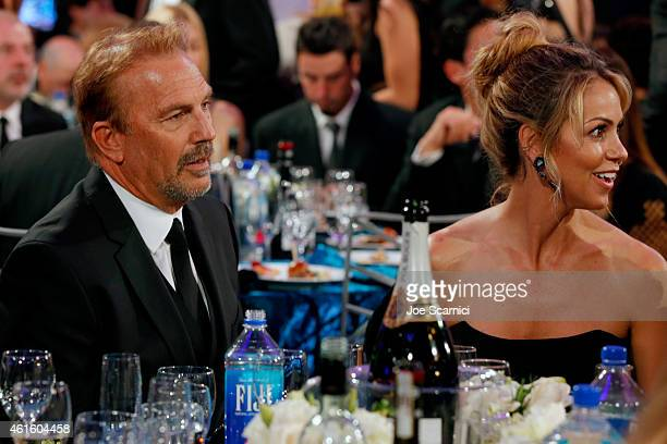 Actor Kevin Costner and wife Christine Baumgartner attend the 20th annual Critics' Choice Movie Awards at the Hollywood Palladium on January 15 2015...