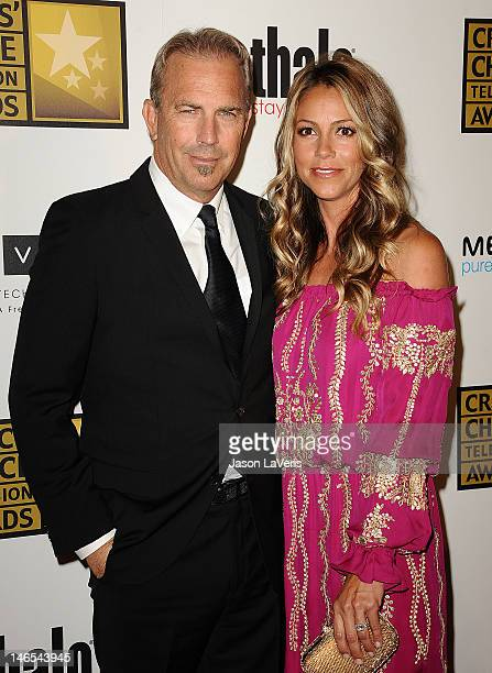 Actor Kevin Costner and wife Christine Baumgartner attend the Critics' Choice Television Awards at The Beverly Hilton Hotel on June 18 2012 in...