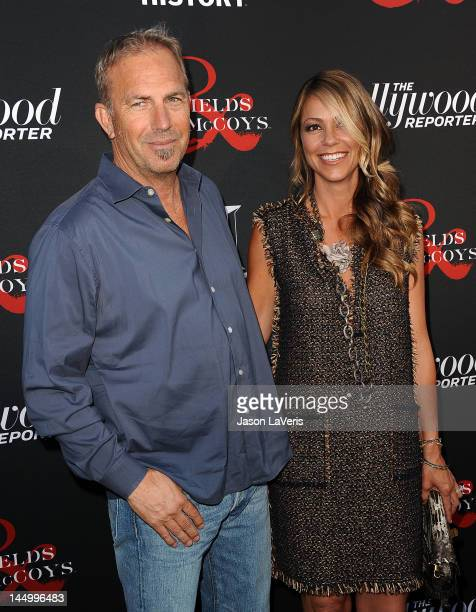Actor Kevin Costner and wife Christine Baumgartner attend the premiere of 'Hatfields McCoys' at Milk Studios on May 21 2012 in Los Angeles California