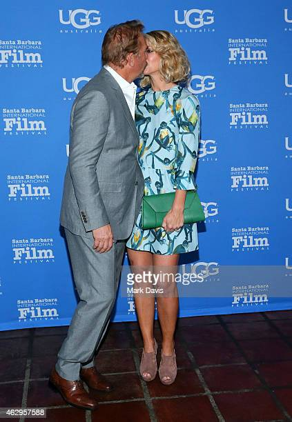 Actor Kevin Costner and wife Christine Baumgartner attend the premiere screening of 'McFarland USA' at the 30th Santa Barbara International Film...