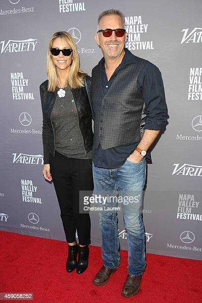 Actor Kevin Costner and wife Christine Baumgartner attend the Variety 10 producers to watch and indie impact presented by Mercedes-Benz at The...
