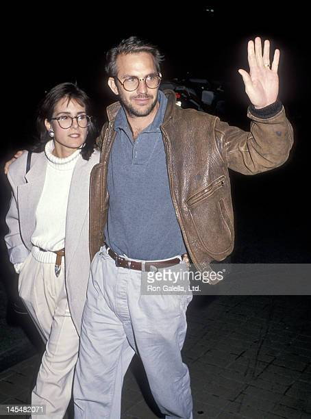 Actor Kevin Costner and wife Cindy Costner attend a performance of the play Hurlyburly on January 13 1989 at the Westwood Playhouse in Westwood...
