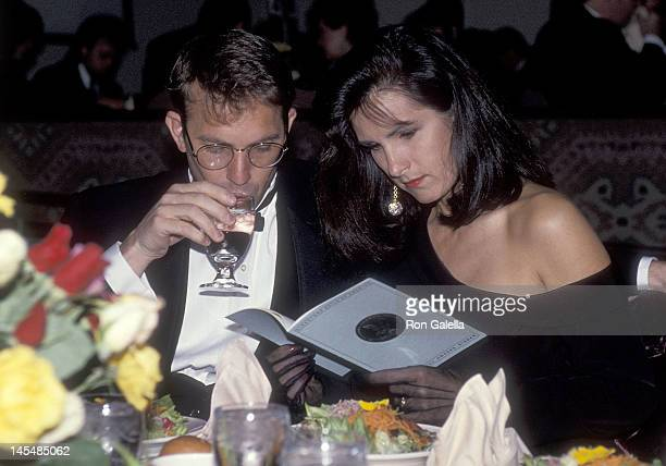 Actor Kevin Costner and wife Cindy Costner attend the 43rd Annual Directors Guild of America Awards on March 16 1991 at the Beverly Hilton Hotel in...