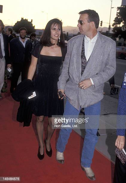 Actor Kevin Costner and wife Cindy Costner attend The Commmitments Hollywood Premiere on August 7 1991 at the Pacific's Cinerama Dome in Hollywood...
