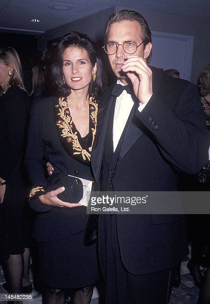 Actor Kevin Costner and wife Cindy Costner attend the Dances with Wolves Century City Premiere on November 4 1990 at the Cineplex Odeon Century Plaza...