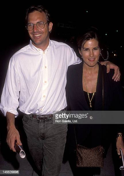 Actor Kevin Costner and wife Cindy Costner attend the Once on This Island Opening Night Musical Performance on July 22 1992 at the Wilshire Theatre...