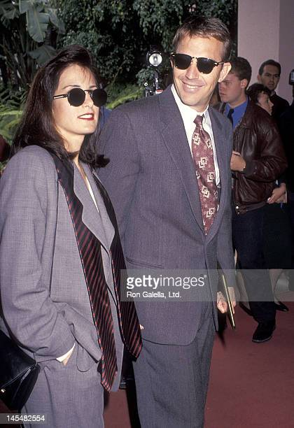 Actor Kevin Costner and wife Cindy Costner attend the Sixth Annual IFP/West Independent Spirit Awards on March 23 1991 at the Beverly Hills Hotel in...