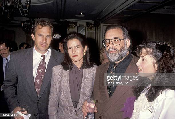 Actor Kevin Costner and wife Cindy Costner director Francis Ford Coppola and actress Talia Shire attend the Second Annual Producers Guild of America...