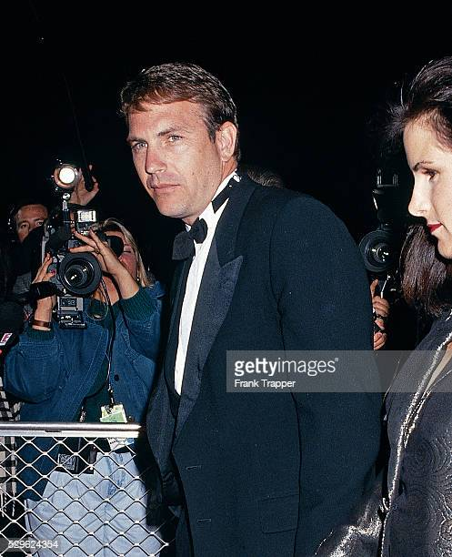 Actor Kevin Costner arrives at the 1st Annual Movie Awards This photo appears on page 99 in Frank Trapper's RED CARPET book