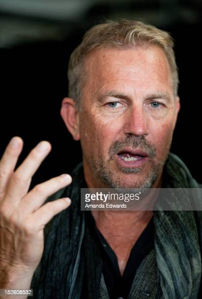 Actor Kevin Costner arrives at the History Channel Pre-Emmy Party at Soho House on September 22, 2012 in West Hollywood, California.