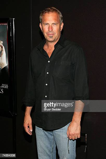 Actor Kevin Costner arrives at the special screening of Mr Brooks at the Tribeca Grand Hotel on May 29 2007 in New York City