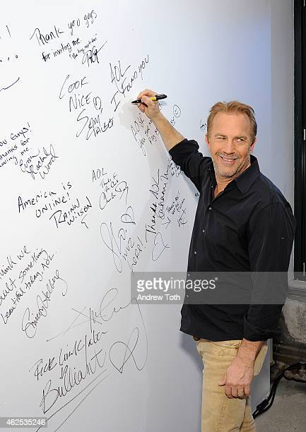Actor Kevin Costner attends AOL Build Speaker Series Presents Kevin Costner at AOL Studios In New York on January 30 2015 in New York City