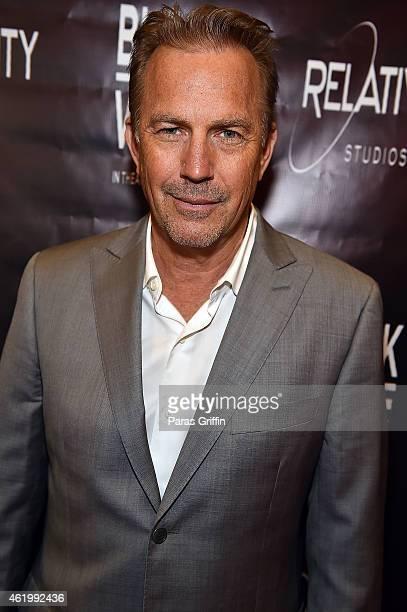 Actor Kevin Costner attends 'Black or White' red carpet screening at Regal Atlantic Station on January 22 2015 in Atlanta Georgia