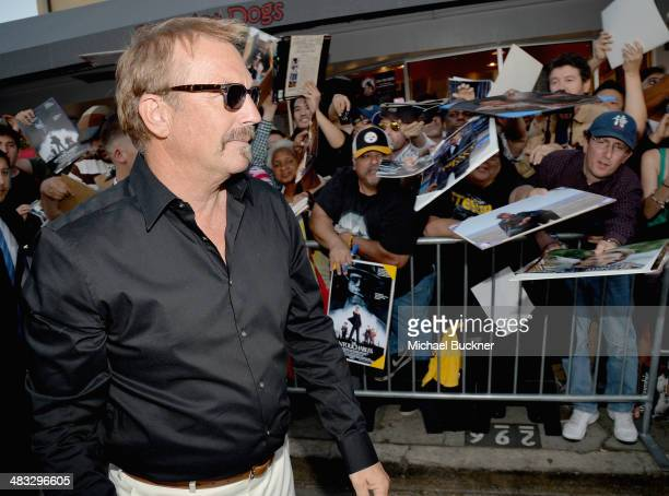 """Actor Kevin Costner attends Premiere Of Summit Entertainment's """"Draft Day"""" at Regency Bruin Theatre on April 7, 2014 in Los Angeles, California."""