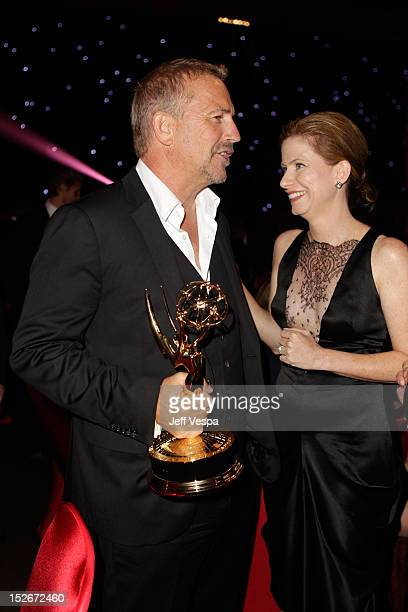 Actor Kevin Costner attends the 64th Primetime Emmy Awards Governors Ball at Los Angeles Convention Center on September 23 2012 in Los Angeles...
