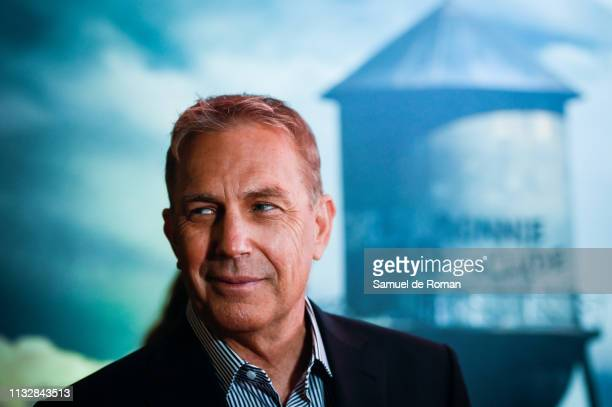 Actor Kevin Costner attends the 'Highwaymen' film by Netflix premiere at the Cine Capitol on March 25, 2019 in Madrid, Spain.