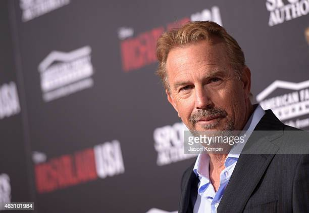 "Actor Kevin Costner attends the premiere of Disney's ""McFarland, USA"" at the El Capitan Theatre on February 9, 2015 in Hollywood, California."