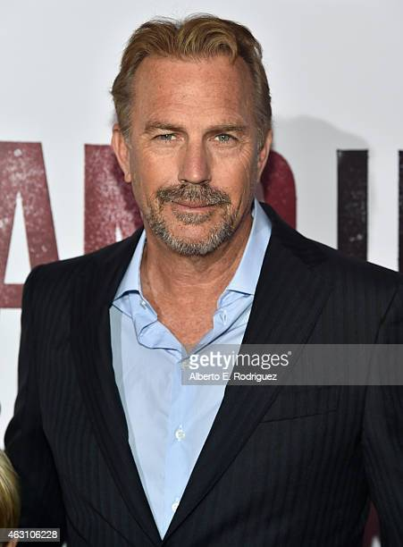 "Actor Kevin Costner attends the world premiere of ""McFarland, USA"" at The El Capitan Theatre on February 9, 2015 in Hollywood, California."