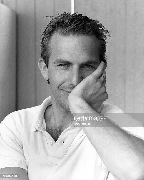 Actor Kevin Costner is starring in the upcoming movie 'Bull Durham' during photo shoot August 7, 1985 in Los Angeles, California.