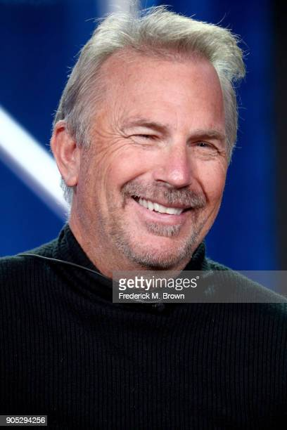Actor Kevin Costner of 'Yellowstone' speaks onstage during the Paramount Network portion of the 2018 Winter Television Critics Association Press Tour...