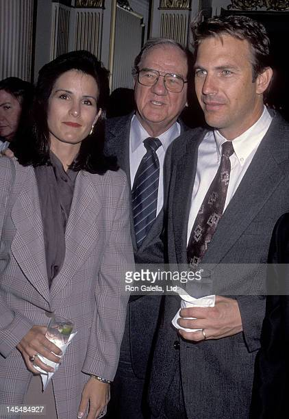 Actor Kevin Costner wife Cindy Costner and actor Karl Malden attend the Second Annual Producers Guild of America Golden Laurel Awards on March 5 1991...