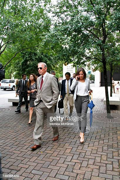 Actor Kevin Costner with daughter Annie Costner departs after the jury verdict is announced at the US District Court Eastern District Of Louisiana on...