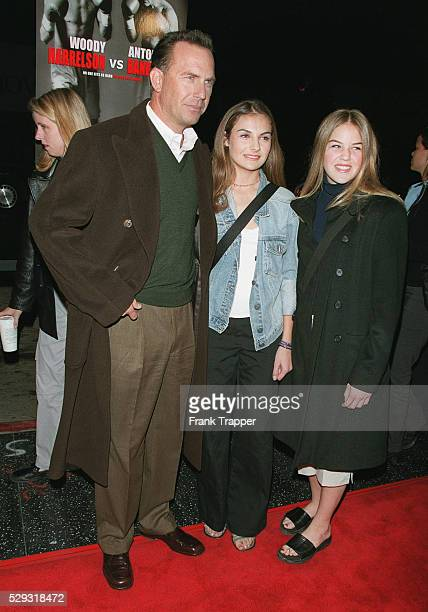 Actor Kevin Costner with daughters Lily and Annie