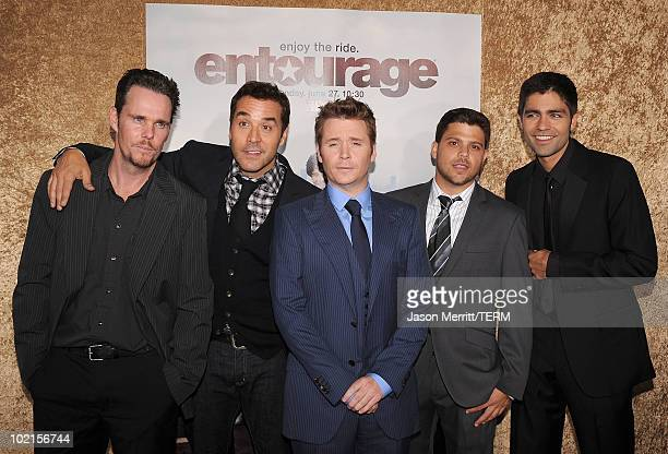 Actor Kevin Dillon actor Jeremy Piven actor Kevin Connolly actor Jerry Ferrara and actor Adrian Grenier arrive at HBO's Entourage Season 7 premiere...