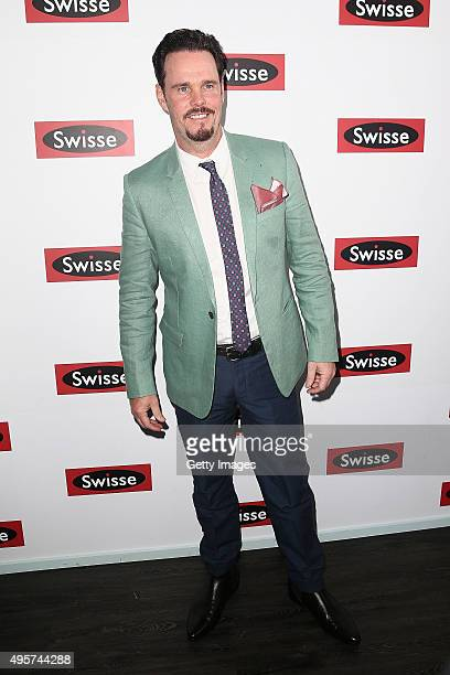 Actor Kevin Dillon poses at the Swisse Marquee on Oaks Day at Flemington Racecourse on November 5 2015 in Melbourne Australia