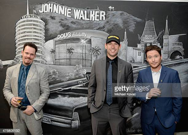 Actor Kevin Dillon writer/director/producer Doug Ellin and actor Kevin Connolly attend the House Of Walker in celebration of Entourage opening night...