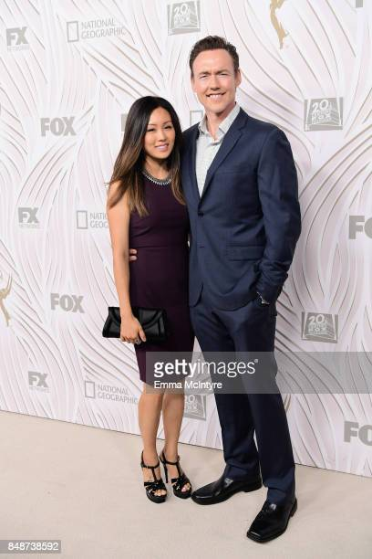 Actor Kevin Durand and Sandara Cho attend FOX Broadcasting Company Twentieth Century Fox Television FX And National Geographic 69th Primetime Emmy...