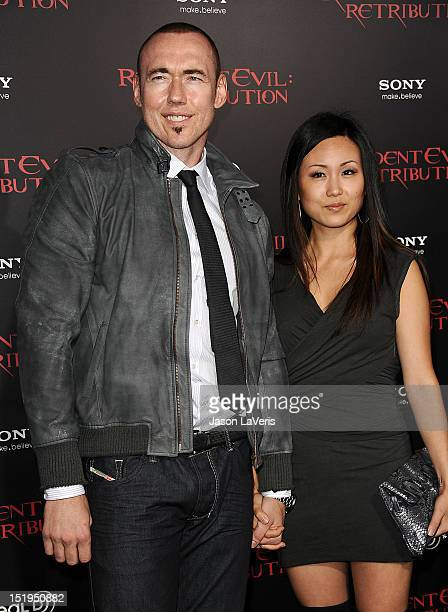 Actor Kevin Durand and wife Sandra Cho attend the premiere of Resident Evil Retribution at Regal Cinemas LA Live on September 12 2012 in Los Angeles...