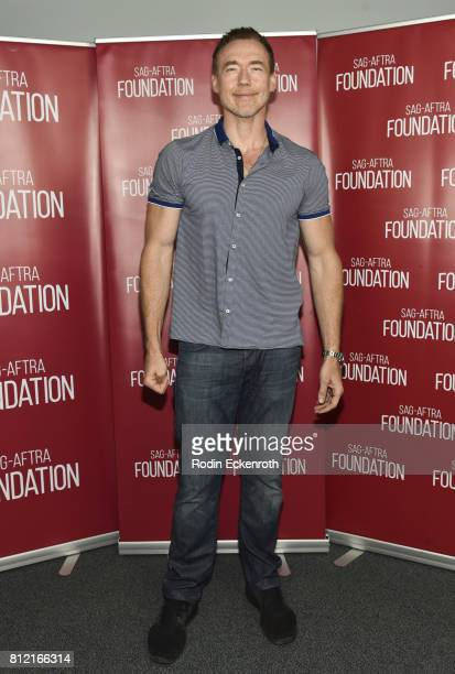 Actor Kevin Durand attends SAGAFTRA Foundation's Conversations with 'The Strain' at SAGAFTRA Foundation Screening Room on July 10 2017 in Los Angeles...