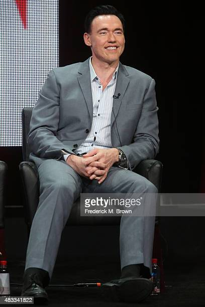 Actor Kevin Durand speaks onstage during 'The Strain' panel discussion at the FX portion of the 2015 Summer TCA Tour at The Beverly Hilton Hotel on...