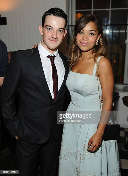 Actor Kevin Guthrie and actress Antonia Thomas at the Grey Goose vodka party for The Weinstein Company and eOne Entertainment's 'August Osage County'...
