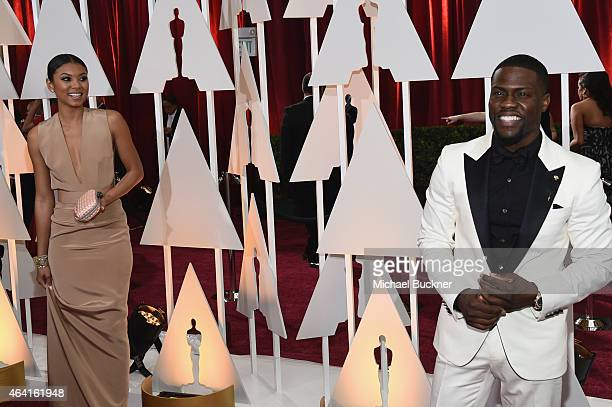 Actor Kevin Hart and Eniko Parrish attend the 87th Annual Academy Awards at Hollywood Highland Center on February 22 2015 in Hollywood California