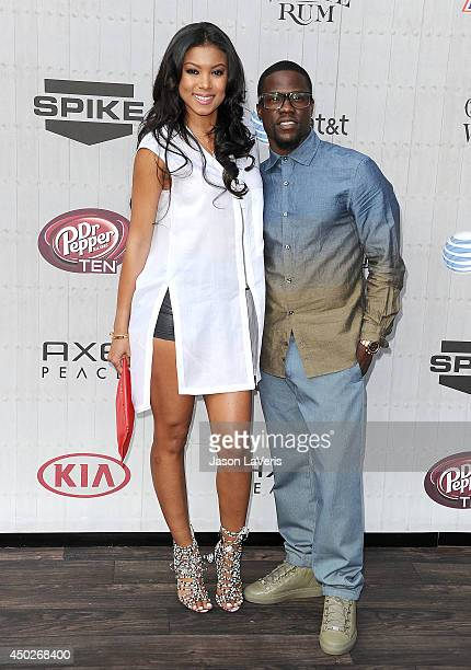 Actor Kevin Hart and Eniko Parrish attends Spike TV's Guys Choice Awards at Sony Studios on June 7 2014 in Los Angeles California