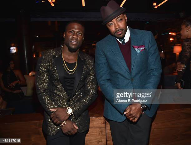 Actor Kevin Hart and producer William Packer attend the after party for the premiere of Screen Gems' The Wedding Ringer at on January 6 2015 in...