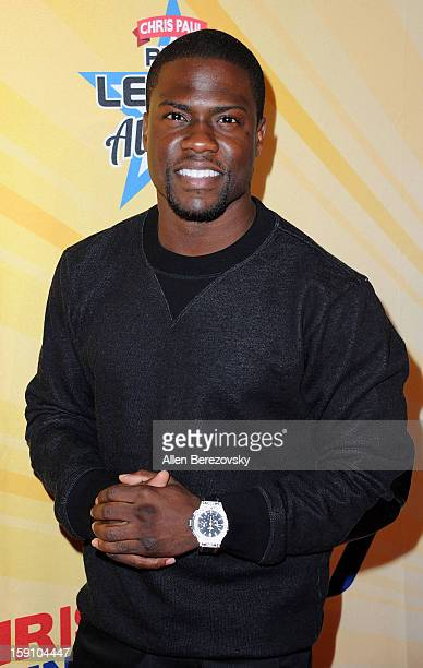 Actor Kevin Hart arrives at the 5th annual Chris Paul PBA AllStars Invitational hosted by LA Clippers star guard Chris Paul at Lucky Strike Lanes at...