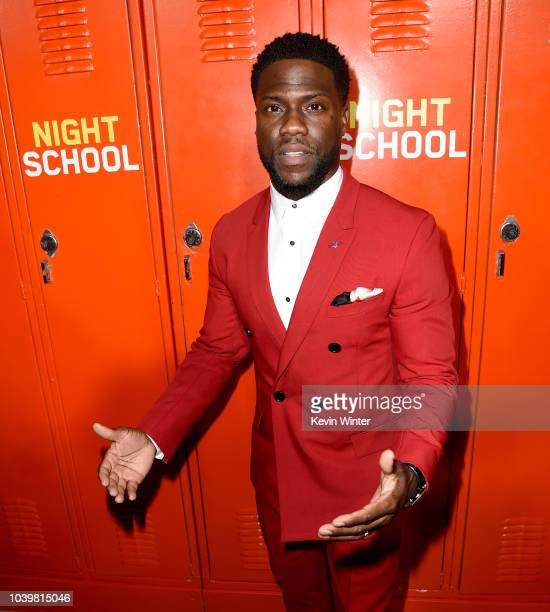 Actor Kevin Hart arrives at the premiere of Universal Pictures' Night School at the Regal Cinemas LA LIVE Stadium 14 on September 24 2018 in Los...