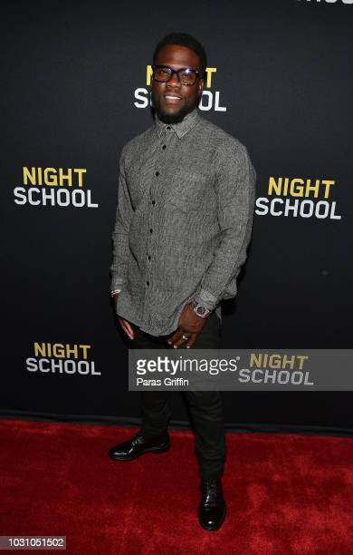 "Actor Kevin Hart attends ""Night School"" Atlanta Red Carpet Screening at Regal Atlantic Station on September 10, 2018 in Atlanta, Georgia."