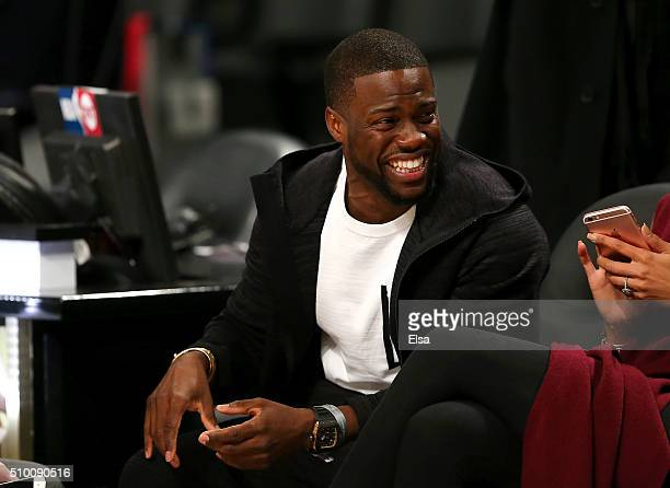 Actor Kevin Hart attends the Verizon Slam Dunk Contest during NBA AllStar Weekend 2016 at Air Canada Centre on February 13 2016 in Toronto Canada...
