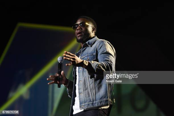 Actor Kevin Hart speaks onstage at the YouTube #Brandcast presented by Google at Javits Center North on May 4 2017 in New York City