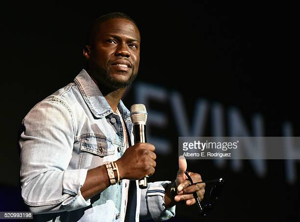 Actor Kevin Hart speaks onstage during CinemaCon 2016 as Universal Pictures Invites You to an Exclusive Product Presentation Highlighting its Summer...